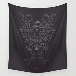 faces Wall Tapestry