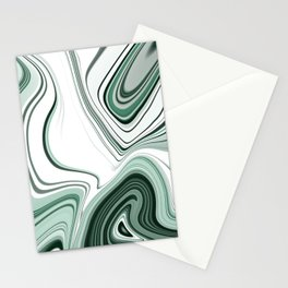 Bold Green Agate Stone Effect Design Stationery Cards