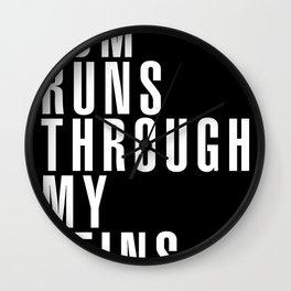 EDM Runs Through My Veins Wall Clock