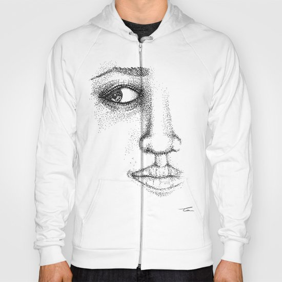 Fine Liner Stippling Girl 1 Hoody