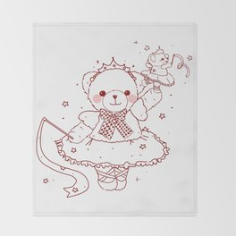 The Adventures of Bear and Baby Bear-Prima Ballerina Throw Blanket