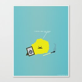 I Sulfur When You Argon Canvas Print