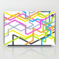 90s iPad Cases featuring Neon 90s Metro by Abstract Graph Designs