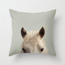 Peekaboo - Horse Photography Throw Pillow