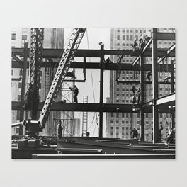 Steel workers New York City Canvas Print