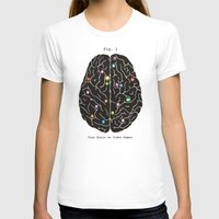 video games T-shirts featuring Your Brain On Video Games by Terry Fan
