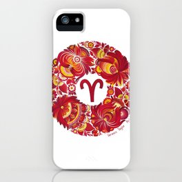 Aries in Petrykivka style (with signature) iPhone Case