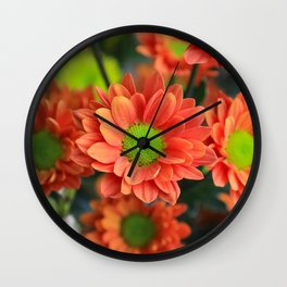 Sunflower Orange Wall Clock