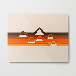Golden Wavelength Metal Print