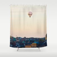 stockholm Shower Curtains featuring Stockholm by DAMION LAWRENCE