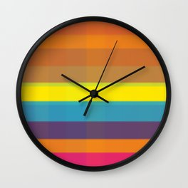 Retro? No. Modern background #society6 #decor #buyart #artprint Wall Clock