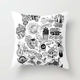 3am Thoughts Club Throw Pillow