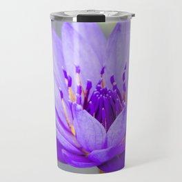 Blue Lotus In Bloom Travel Mug