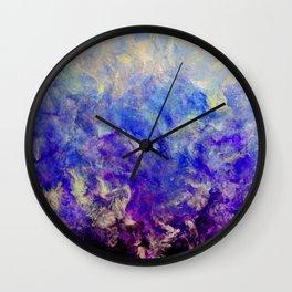 Lilac Sunset - Original Abstract Art by Vinn Wong Wall Clock