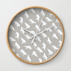 wild wolves pattern Wall Clock