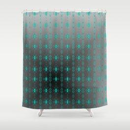 Softly-grey-blue-pattern Shower Curtain