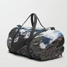 glacier end kaunertal alps tyrol austria europe Duffle Bag