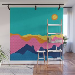 Over The Sunset Mountains III Wall Mural