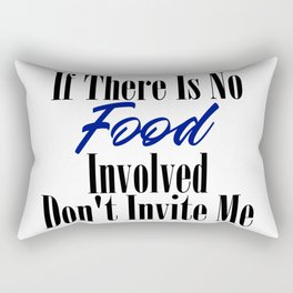 Food Party Invitation Only Glutton Junk Foodie Meme Rectangular Pillow