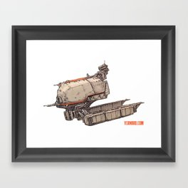 Retro Spaceship Framed Art Print