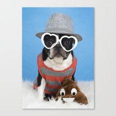Little Shit Boston Terrier Canvas Print