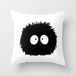 Soot Ball - Susuwatari Throw Pillow