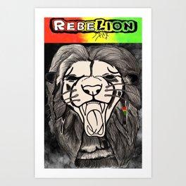 RebeLion Rises Art Print