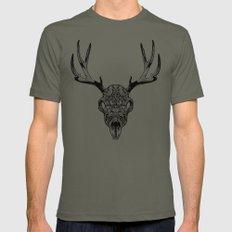 Deer Skull Mens Fitted Tee Lieutenant LARGE