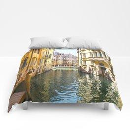 A Gondola Ride through Venice Comforters