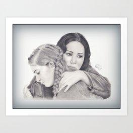 Katniss and Primrose  Art Print