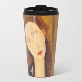 Jeanne Hebuterne woman portrait by Amedeo Modigliani Travel Mug