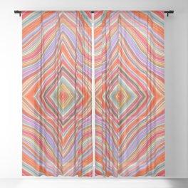 Wild Wavy Diamonds 11 Sheer Curtain