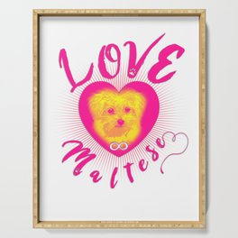 Maltese Dog Puppy Endless Love yp Serving Tray