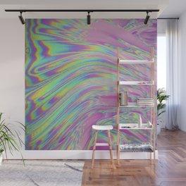 Liquid Iridescent Glitch Wall Mural