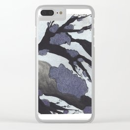 Purple Cherry Blossoms (3 of 3) Clear iPhone Case