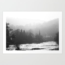 Town In The Valley Art Print