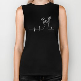 Wild Animals Heartbeat Reindeer Deer Forest Weapons Hunting Design Biker Tank