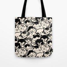 Happy Cats Faces Tote Bag