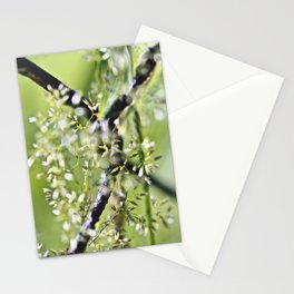 Blades Of Grass On Wire Fence Stationery Cards
