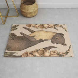 The Marten and Foxglove Rug
