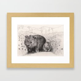 Path to wombat pool Framed Art Print