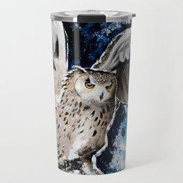 "Owl - Animal - ""I own the night..."" by LiliFlore Travel Mug"
