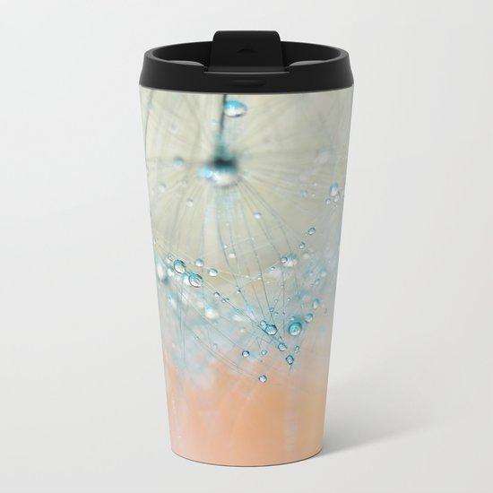 dandelion blue III Metal Travel Mug