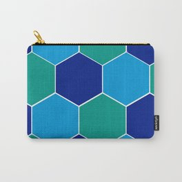 Hexagon-blue gradient Carry-All Pouch