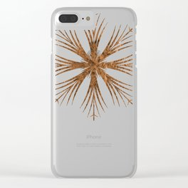 Bronze Snowflake Design Clear iPhone Case