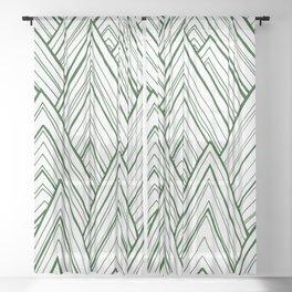 Stripe Mountains - Dark Green Sheer Curtain