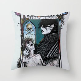 Rozzferatu - Fanart for Rozz Williams Throw Pillow