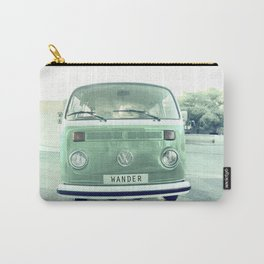 Vintage Wander wolkswagen. Summer dreams. Green Carry-All Pouch