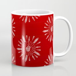Red Aztec Ombre Pattern Coffee Mug