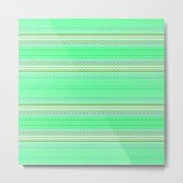 Mint Green Abstract XV Metal Print